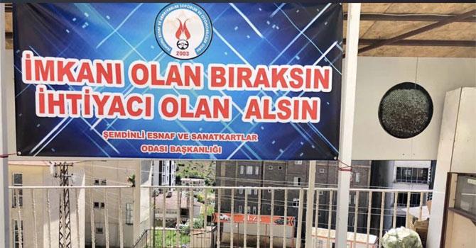 Şemdinli'de  'İmkanı olan bıraksın ihtiyacı olan alsın' kampanyası