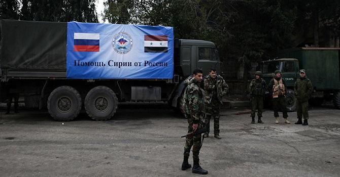 Rusya, Menbiç'e ilk insani yardım konvoyunu gönderdi