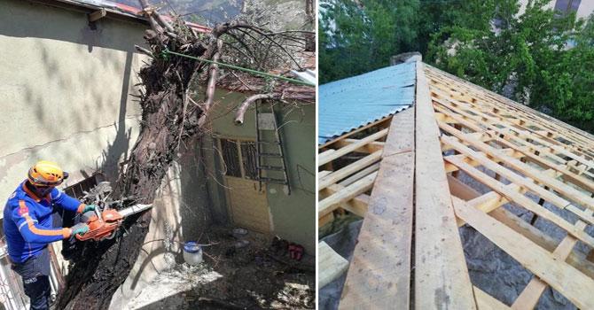 Hakkari'de evleri hasar gören 341 vatandaşın zararları karşılandı