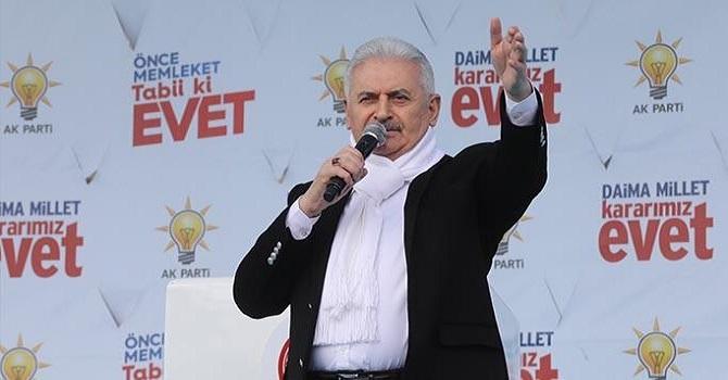 "Başbakan Yıldırım: ""CHP'de HDP'de kara tren yolcusu"