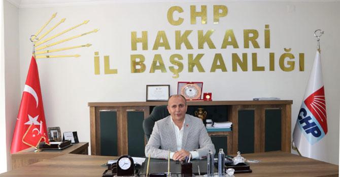 CHP Hakkari İl Başkanı Demir'in bayram mesajı