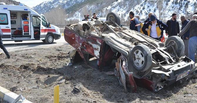 Erzincan'da trafik kazası: 1 ölü