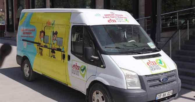 EBA Mobil Destek Aracı Hakkari yollarında