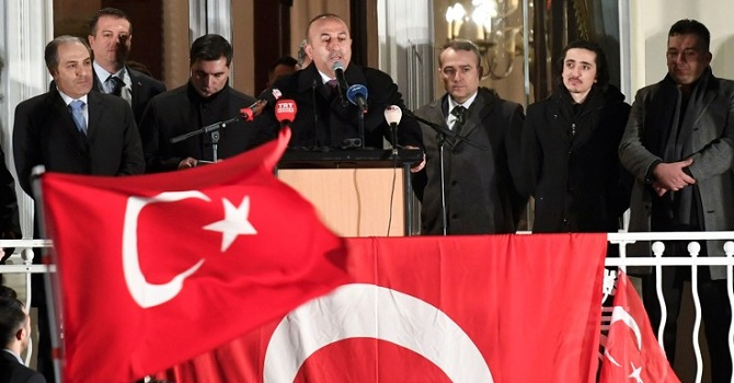 Çavuşoğlu'nun Hollanda mitingine izin verilmedi