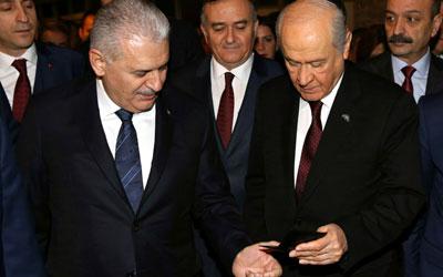Başbakan Yıldırım'dan Bahçeli'ye jest