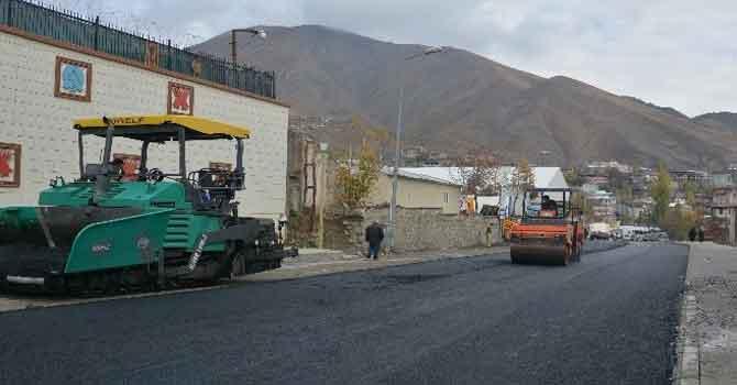 Hakkari Belediyesinden asfalt çalışması!