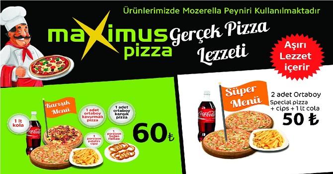 Maximus-Pizza kısıtlama gününde de açık!