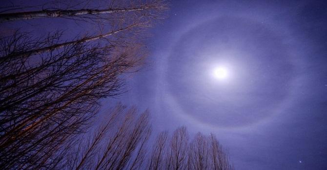 Hakkari'de Ay'ın Etrafında İlginç Çember oluştu!
