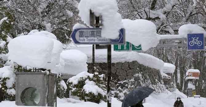 Kar fırtınası Japonya'da 38 can aldı