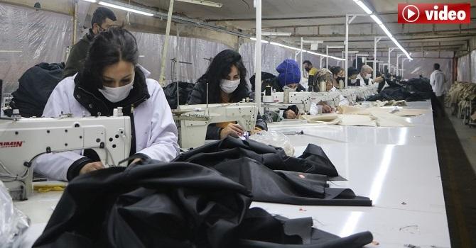 Yüksekova'dan Fransa ve Almanya'ya maske ihracı