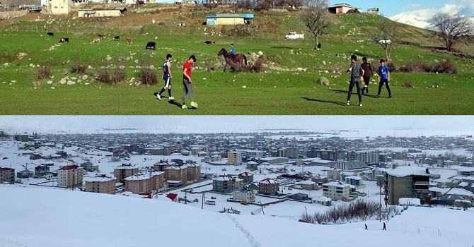 Yüksekova'da kış, Derecik'te bahar havası