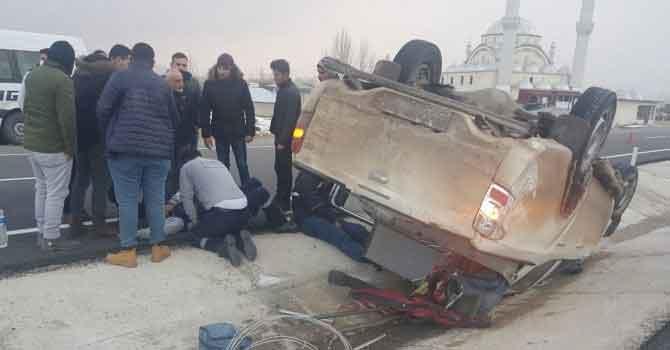 Vedaş aracı kaza yaptı: 4 yaralı