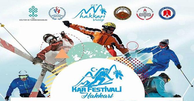 """Hakkari'de """"Kar Festivali"""" düzenlenecek"""