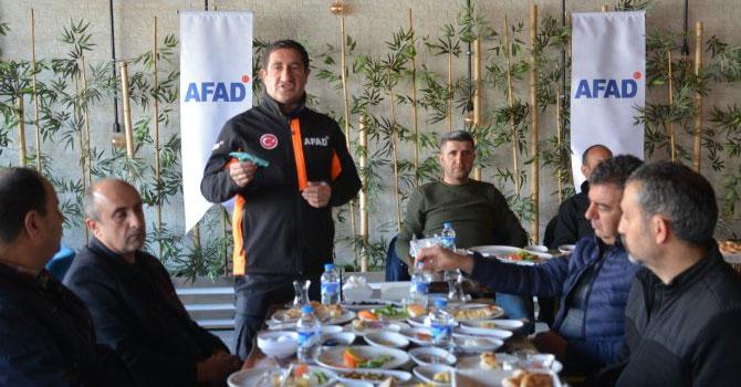 AFAD gazetecilerle kahvaltında bir araya geldi