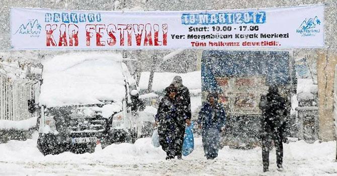 """Hakkari'de düzenlenecek """"Kar Festivali"""" ertelendi"""