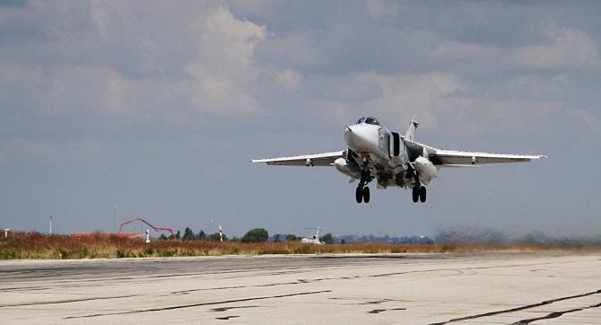 Suriye'deki bir grup Rus Su-24 uçağı eve dönmeye hazırlanıyor
