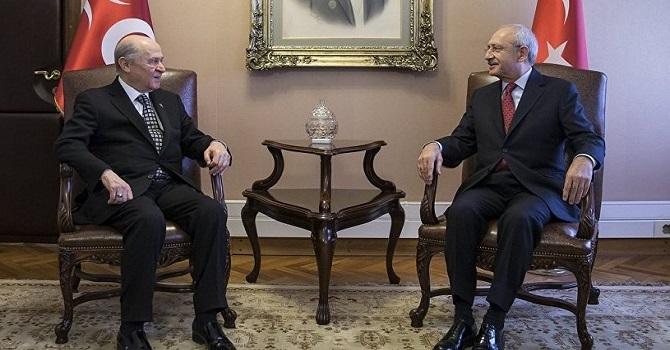 Kılıçdaroğlu, Bahçeli ile görüştü
