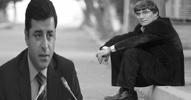 Demirtaş'tan Hrant mektubu