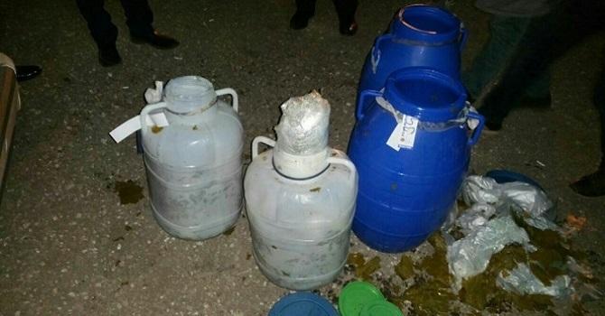 Turşu bidonlarında 21 kilo uyuşturucu bulundu