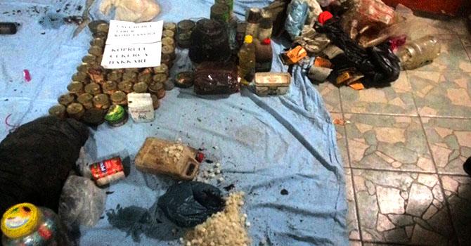 Çukurca'da silah ve mühimmat bulundu