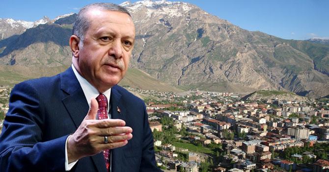 Cumhurbaşkanı Erdoğan Hakkari'nin Kurtuluş Yıl Dönümünü kutladı