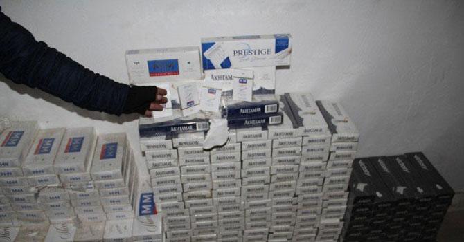 Başkale'de 302 bin paket kaçak sigara ele geçirildi