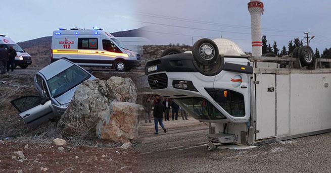 2 ayrı kazada 6 yaralı