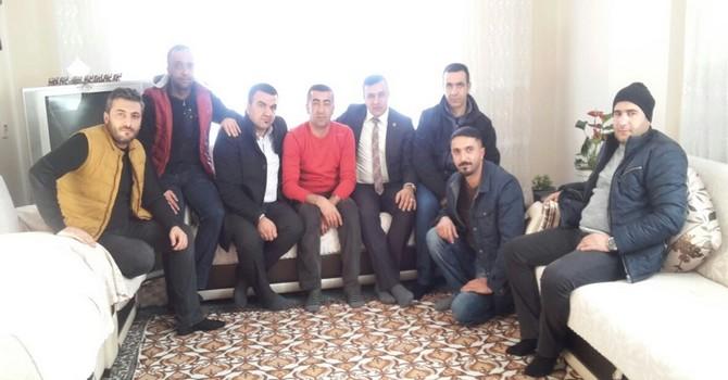 Başkan Arslan'dan evi yanan Güler ailesine ziyaret!