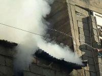 Hakkari'de Kalorifer kazanı dairesinde çıkan yangın korkuttu