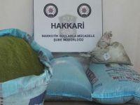 Hakkari'de 168 kg 320 gram toz esrar ele geçirildi
