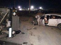 Zırhlı araç ile otomobil çarpıştı: 3'ü Asker, 5 Yaralı