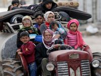 Gözlemevi: Afrin'den 150 bin sivil kaçtı