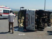 Trafik kazası: 21'i asker 3'ü korucu 25 yaralı