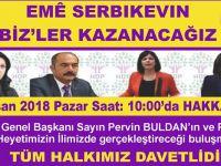 HDP Eş genel başkanı ve Milletvekilleri Hakkari'ye geliyor