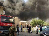 Oyların yeniden sayılması kararı alınan Irak'ta oy toplama merkezinde yangın