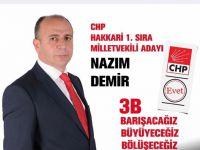 CHP Hakkari adayı Demir'in bayram mesajı