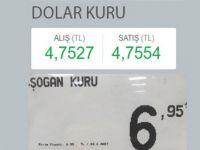 """Dolar kuru: 4.75, Soğan kuru: 6.95"""