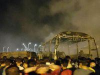 Kürdistan'da yakıt tankeri yolcu otobüsüyle çarpıştı: 13 ölü