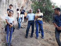 Çukurcalı gençlere, kaya tırmanışı eğitimi