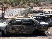 PKK, 9 araç, 3 iş makinesi, ve 1 kırma makinesini ateşe verdi