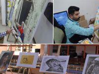 Hakkarili ressamlar stranları resmediyor VİDEO