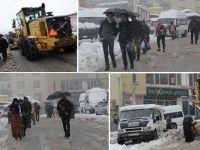 Hakkari'de kar hayatı olumsuz etkiliyor