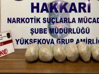 Yüksekova'da 6 kilo 60 gram eroin ele geçirildi!