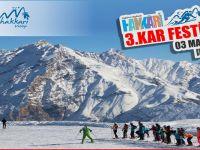 Hakkari'de kar festivali düzenleniyor