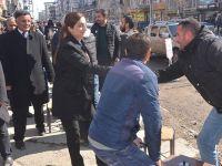 HDP'nin Yüksekova adaylarından esnaf ziyareti