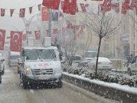 Hakkari'de kar yağışı etkili oldu VİDEO