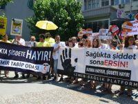 Sağlıkçılara yönelik saldırılar protesto edildi