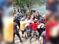 Trabzon'da Kürdistan atkısıyla fotoğraf çektiren turistler lince uğradı
