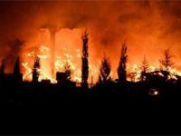 Çorlu'da geri dönüşüm fabrikasındaki yangın