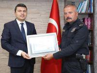 Kaymakam Öztürk'ten Emniyet Müdürü Kapsız'a teşekkür